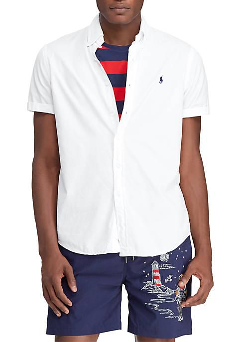 Slim Fit Button Down Twill Shirt