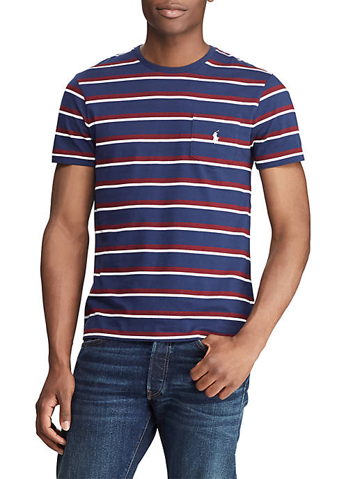 Classic Fit Striped Cotton Tee