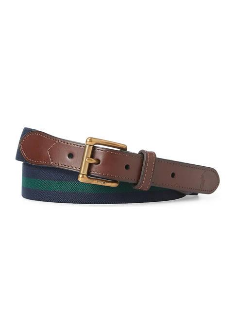 Polo Ralph Lauren Leather-Trim Stretch Belt