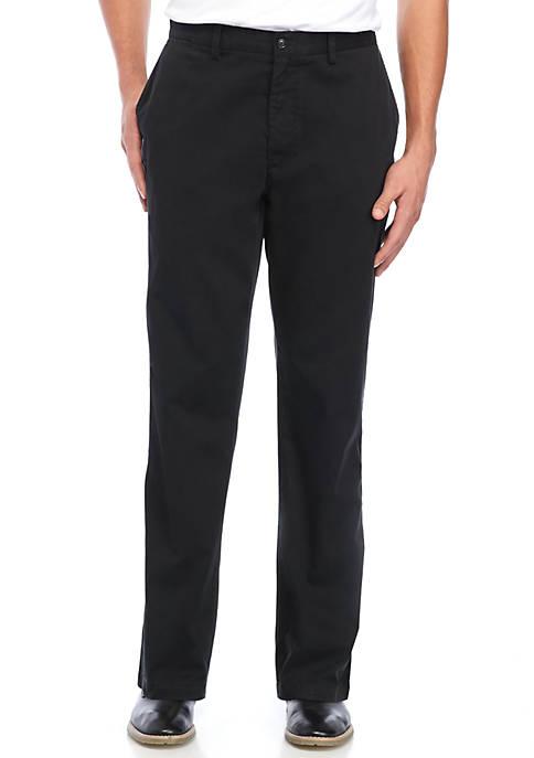 Air Flat Front Pants Black