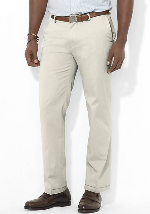 Big & Tall Classic Fit Chino Flat Front Pants