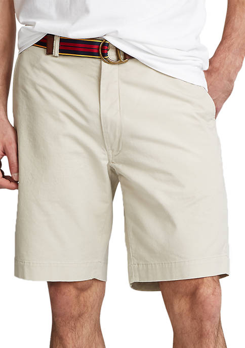 Big & Tall Classic-Fit Flat-Front Chino Shorts
