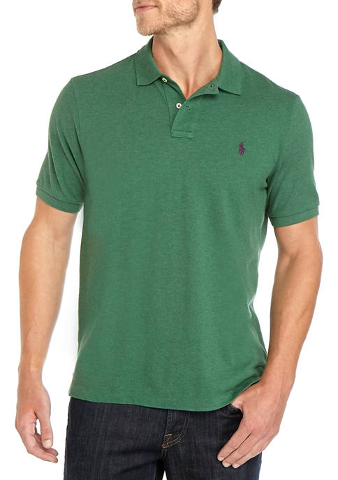 Mens Basic Mesh Short Sleeve Knit Polo Shirt