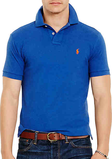 Clearance 69PUTAZO Men Buy Perfect Latest Series Ralph Lauren Light Blue Mesh Polo Shirts