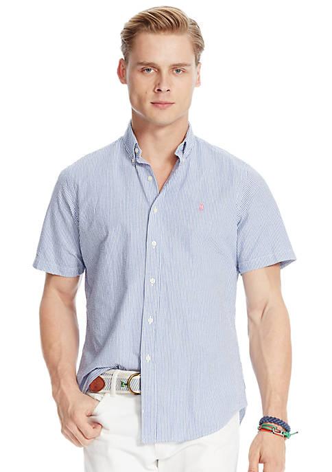 Polo Ralph Lauren Short Sleeve Striped Seersucker Shirt Belk