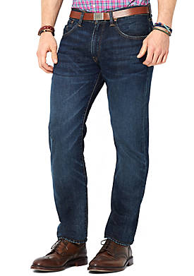 Straight-Fit Lightweight Morris-Wash Jeans