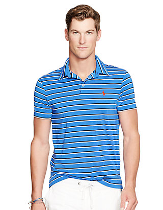 75b63ea0a6 Polo Ralph Lauren Striped Performance Lisle Polo Shirt | belk