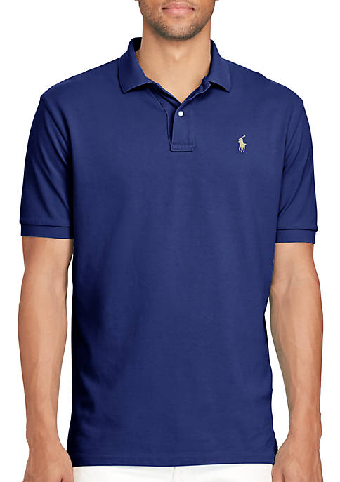 Classic Fit Weathered Mesh Polo Shirt