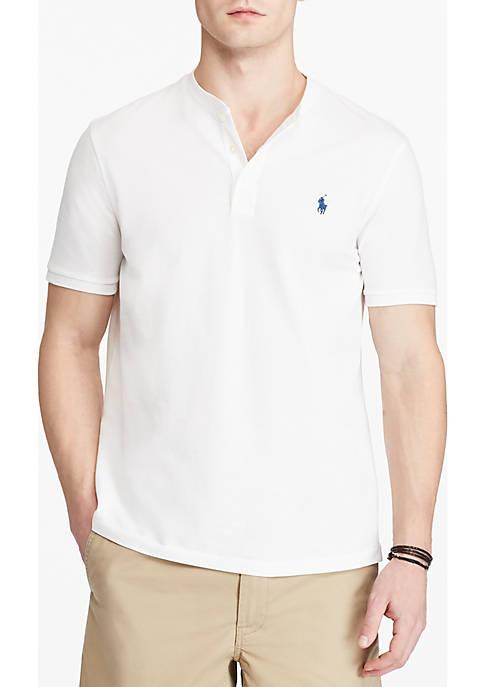 Custom Fit Cotton Mesh Henley T-Shirt