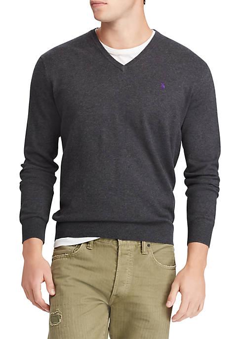 68e4afdf5fd0a Polo Ralph Lauren Merino Wool V-Neck Sweater. Merino Wool V-Neck Sweater