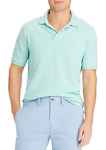Bayside Green Slim Weathered Mesh Short Sleeve Kint Polo Shirt