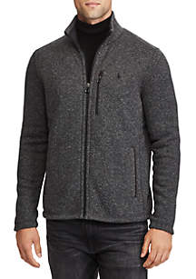Fleece Mock Neck Jacket