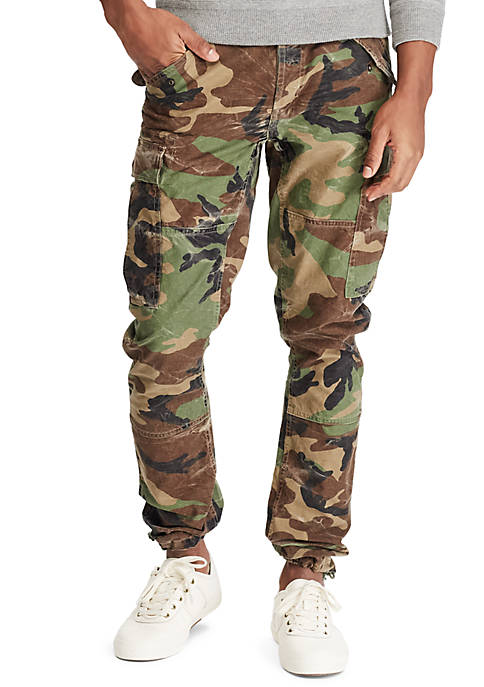 Slim Fit Camo Cargo Pants