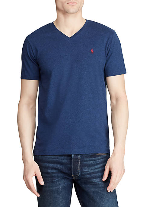 Classic Fit Cotton Jersey V Neck Tee