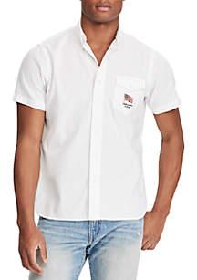 Standard Fit Linen-Cotton Shirt