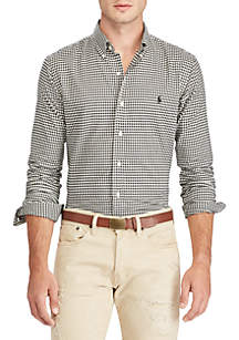 Brushed Twill Long Sleeve Sports Shirt