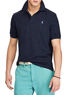 Polo Ralph Lauren Short Sleeve Solid Custom Slim Navy Heather Polo