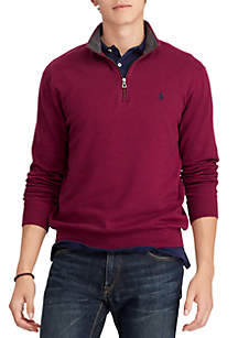 Double-Knit Half-Zip Pullover