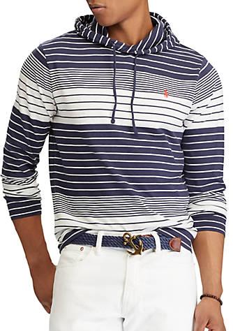 Striped Hooded Lauren Polo Cotton Ralph Shirt T nw08vmN