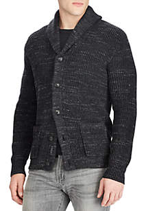 Cotton Shawl Cardigan Sweater