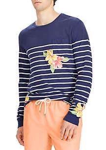 Gauze Jersey Long Sleeve Knit French Navy/Nevis