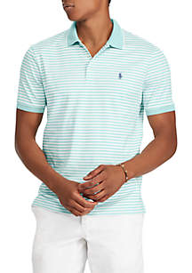 Pima Short Sleeve Stripe Polo Shirt