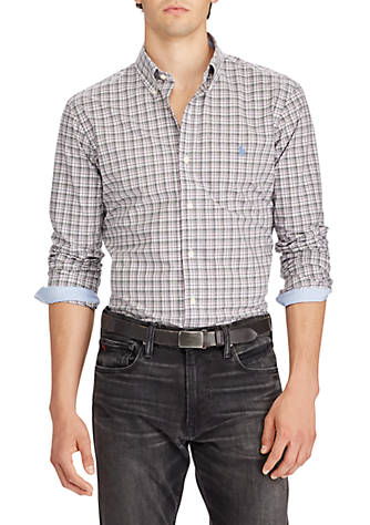Polo Ralph Lauren Long Sleeve Stretch Poplin Cheap Sale Visa Payment Clearance Buy Cheap Best Store To Get 4KLgo3xWJe