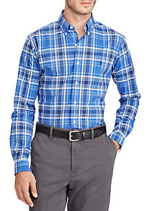 Slim Fit Poplin Long Sleeve Sport Shirt