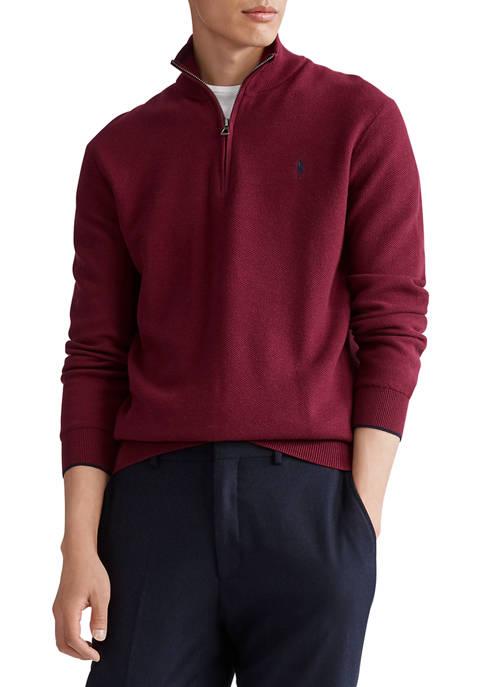 Cotton Half-Zip Pullover