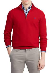 Polo Ralph Lauren Cotton Half Zip Sweater