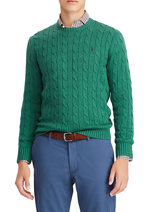 0ab5a9a03978d9 Polo Ralph Lauren Cable-Knit Cotton Sweater. Cable-Knit Cotton Sweater