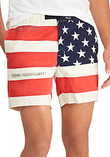 Classic Fit Flag Cotton Short