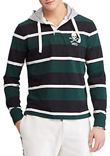 Cotton Hooded Rugby Shirt