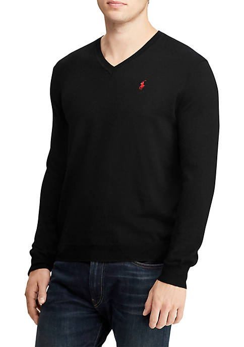 Washable Merino Wool V-Neck Sweater