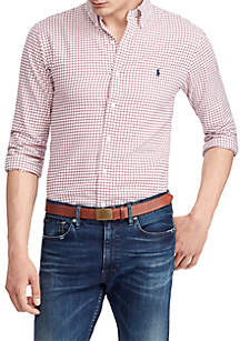 Classic Fit Checkered Twill Shirt