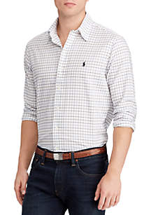 Classic Fit Checked Twill Shirt
