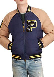 Down Letterman Jacket