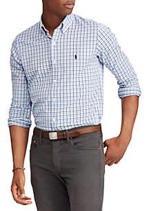 Classic Fit Plaid Performance Twill Shirt