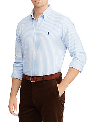 18b70289c1 Polo Ralph Lauren Classic Fit Plaid Performance Oxford Shirt