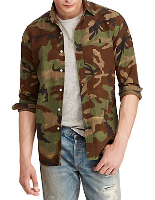 5fb59a75 Polo Ralph Lauren. Polo Ralph Lauren Classic Fit Camo Oxford Shirt