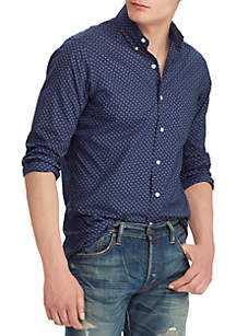 Polo Ralph Lauren Classic Fit Print Poplin Shirt