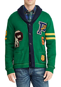 Cotton Letterman Sweater