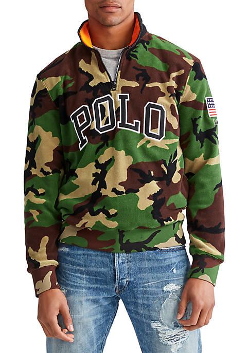 Polo Camo Half Zip Sweatshirt
