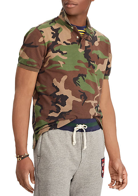 Polo Ralph Lauren Classic Fit Camo Mesh Polo