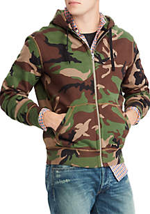 Camo Cotton-Blend-Fleece Hoodie