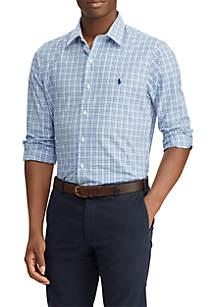 Slim Fit Plaid Poplin Shirt