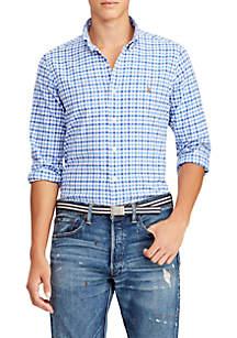 e38e4fa0 Saddlebred® Solid Traveler Short Sleeve Woven Shirt · Polo Ralph Lauren  Classic Fit Plaid Oxford Shirt