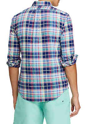 2dea1c408d6 ... Polo Ralph Lauren Long Sleeve Oxford Shirt. Navy Red Multi. Pink