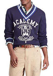 Fleece Panel Cricket Sweater