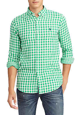 40adf0abfdb8 Polo Ralph Lauren Classic Fit Double-Faced Shirt ...
